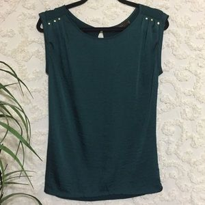 Limited Dressy Teal Green Top with Studs